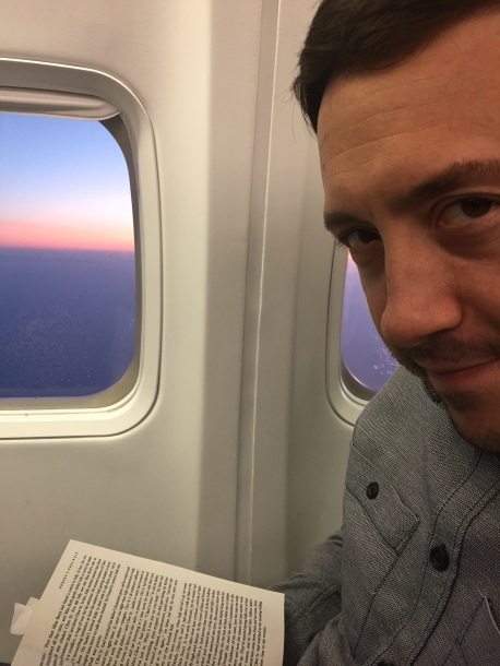 Chas on Plane