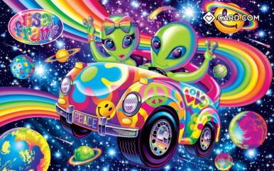 Lisa Frank Aliens