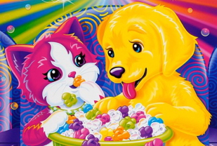 Lisa Frank Dog and Cat